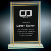 Large Contemporary Glass Full Border Award