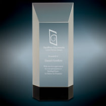 Crystal Award on Black Base