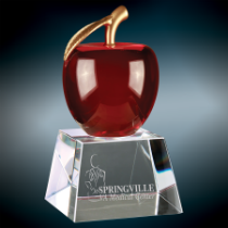Red Crystal Apple with Clear Base