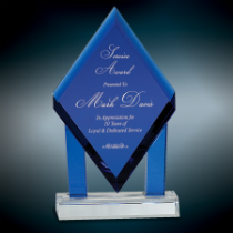 Blue Crystal Floating Diamond Award