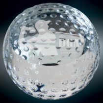 Medium Crystal Golf Ball Paperweight